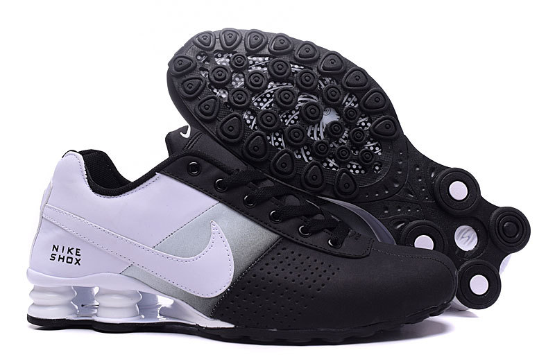 NEW WOMEN NIKE SHOX DELIVER BLACK WHITE GREY SHOES